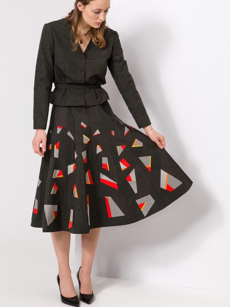 Tumbling Skirt and Jacket