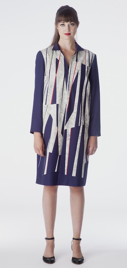 Shards — Coat, pieced from vintage kimono silks. | Ann Williamson