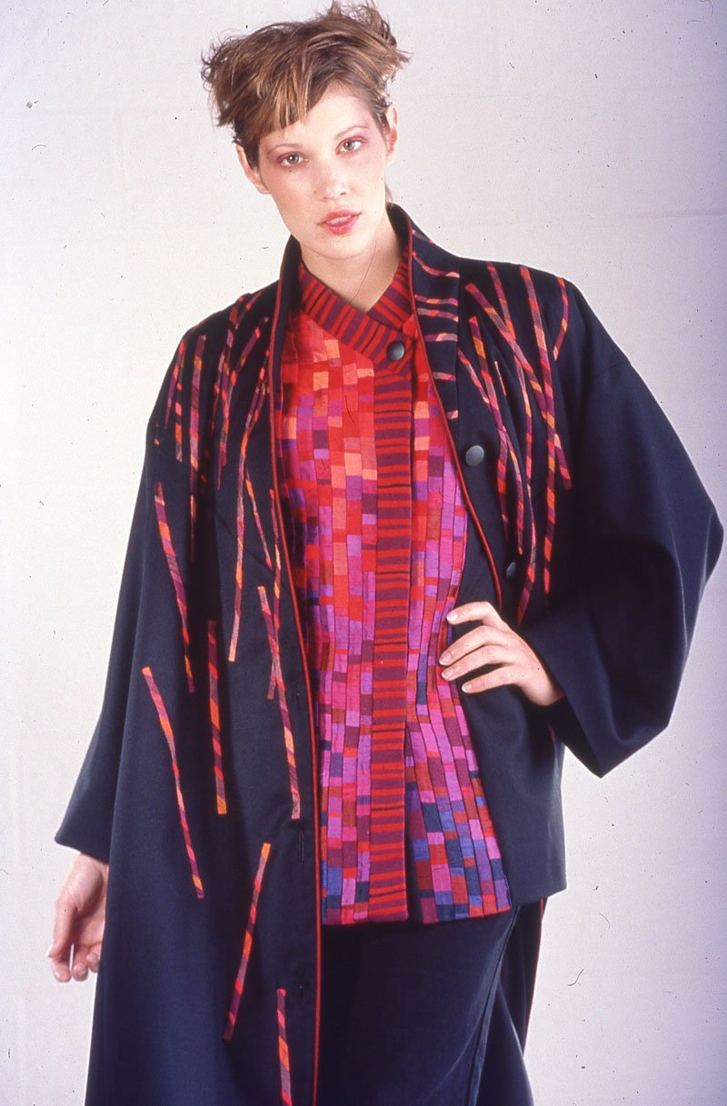Appliqué Coat over Pieced Jacket | Archives | Ann Williamson