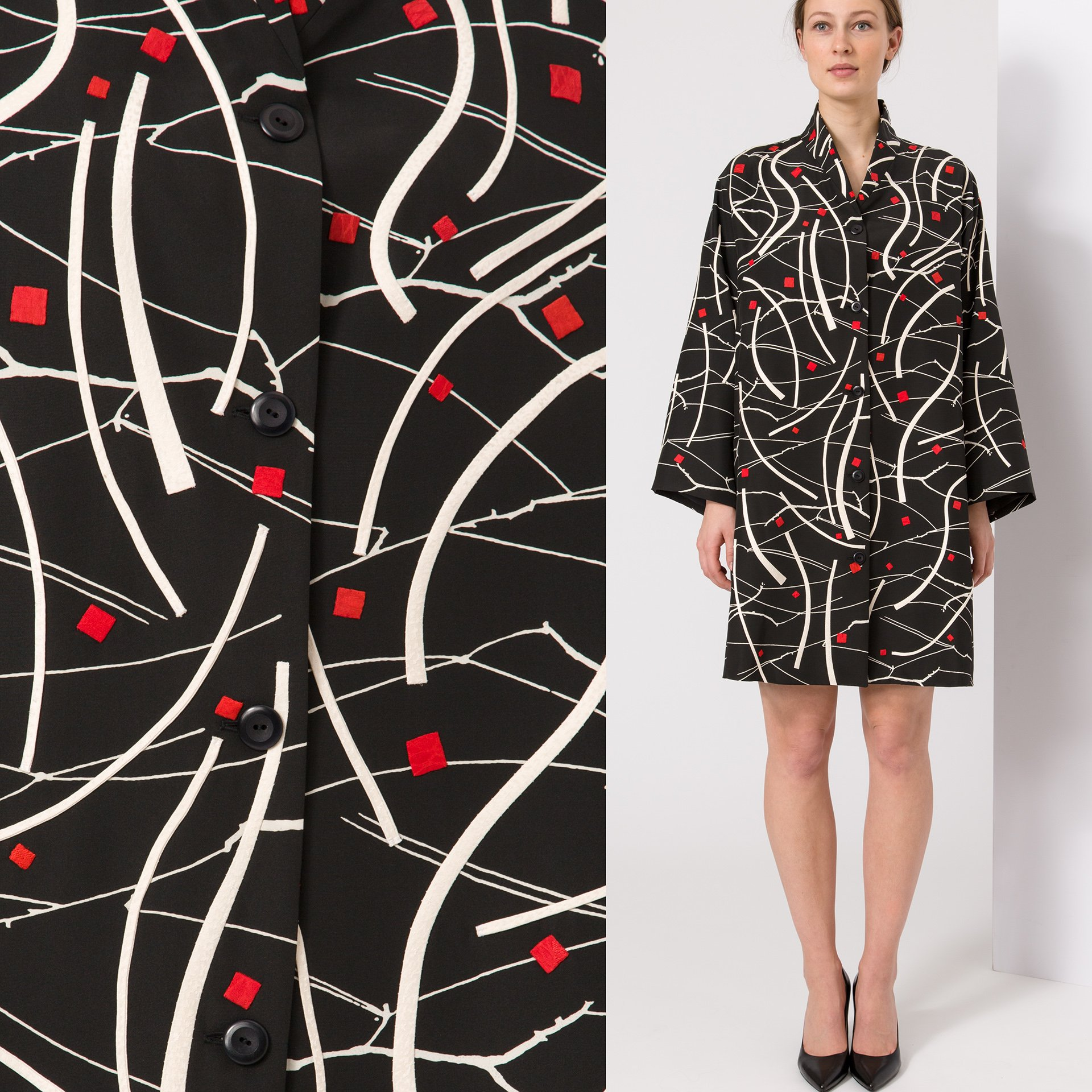 Drift- Appliqued Vintage Kimono Silk | Ann Williamson