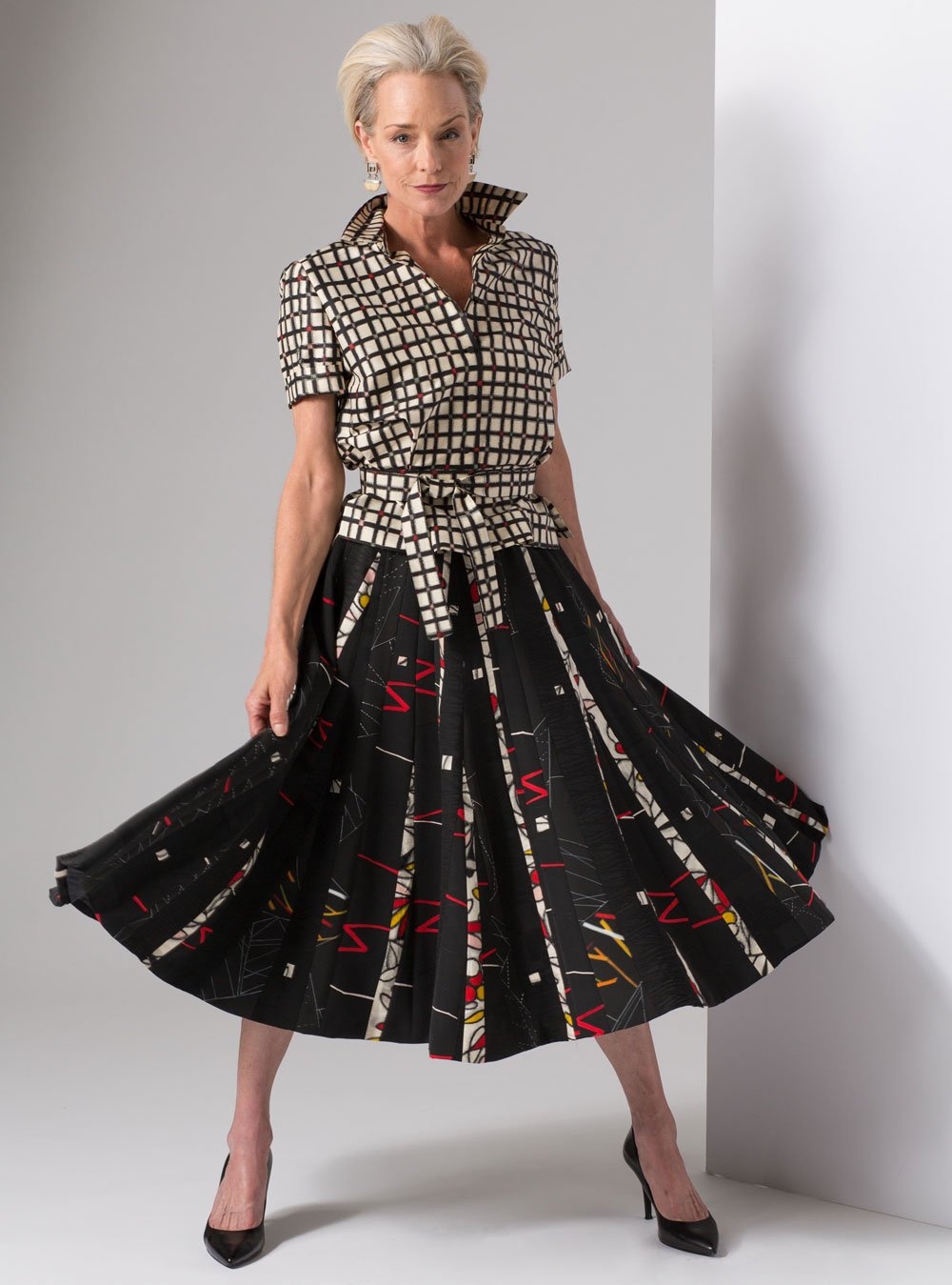 Full striped skirt and blouse | Ann Williamson
