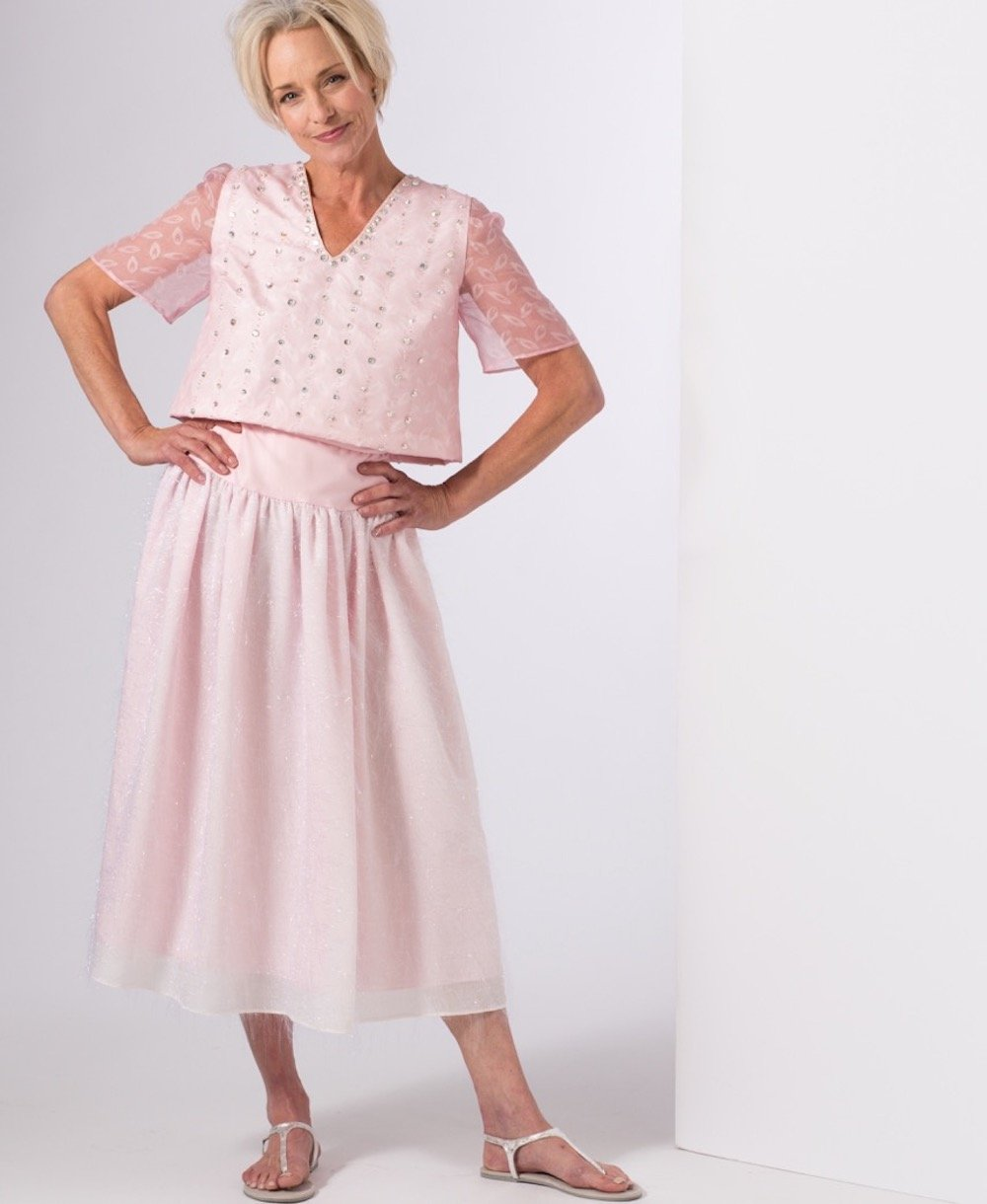 Pink — Beaded Top and Skirt | Ann Williamson