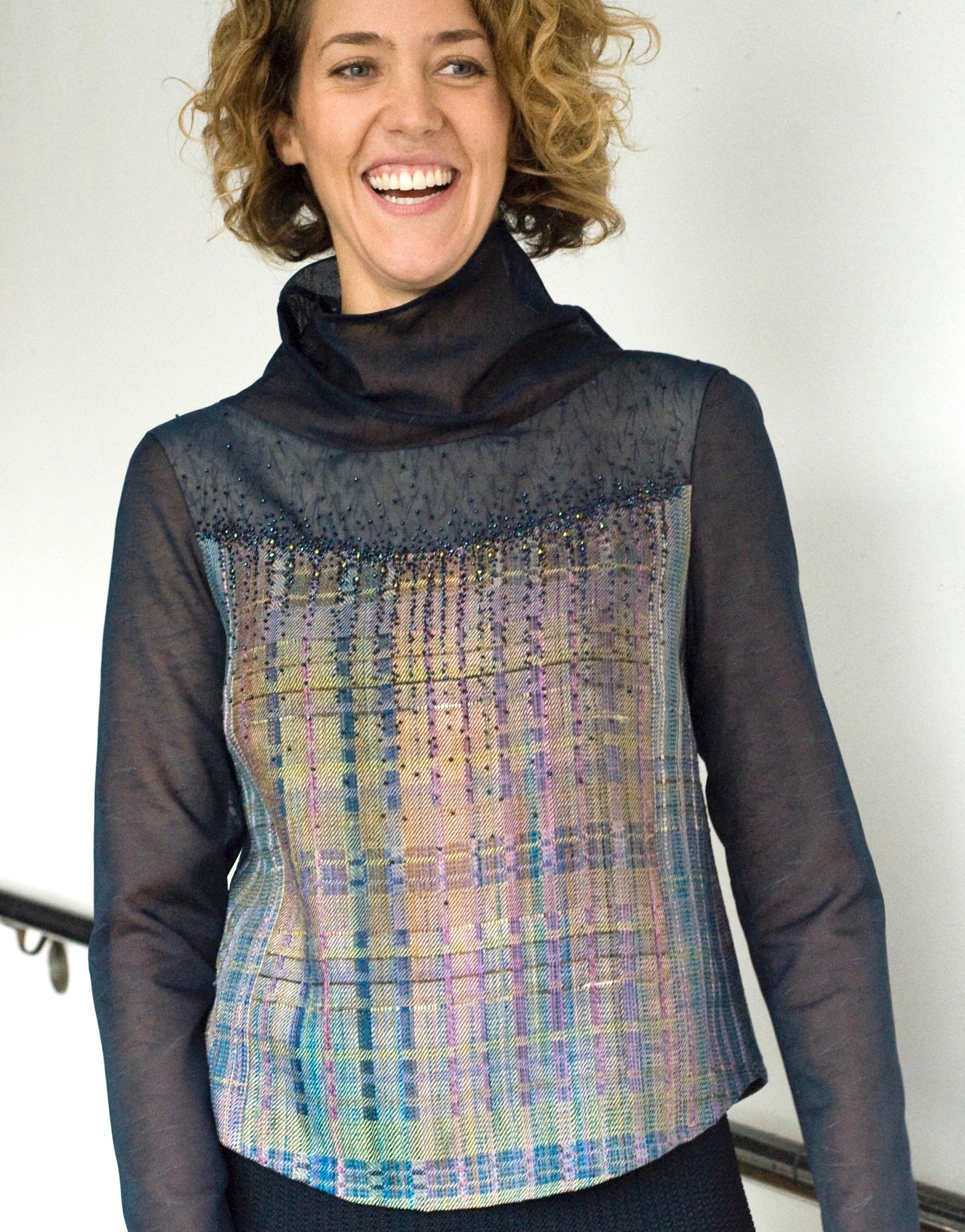 Randy Blouse- Beaded Randall Darwall handwoven silk | Ann Williamson