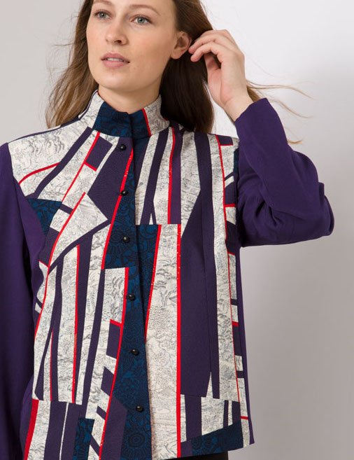 Remainders — Jacket, Pieced Vintage Kimono Silks | Ann Williamson