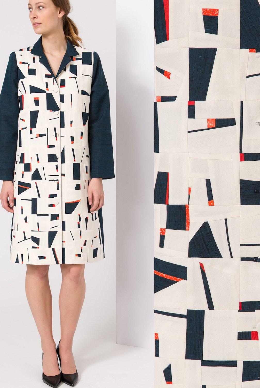 Tiny Bits Coat- Pieced vintage Japanese kimono silk | Ann Williamson