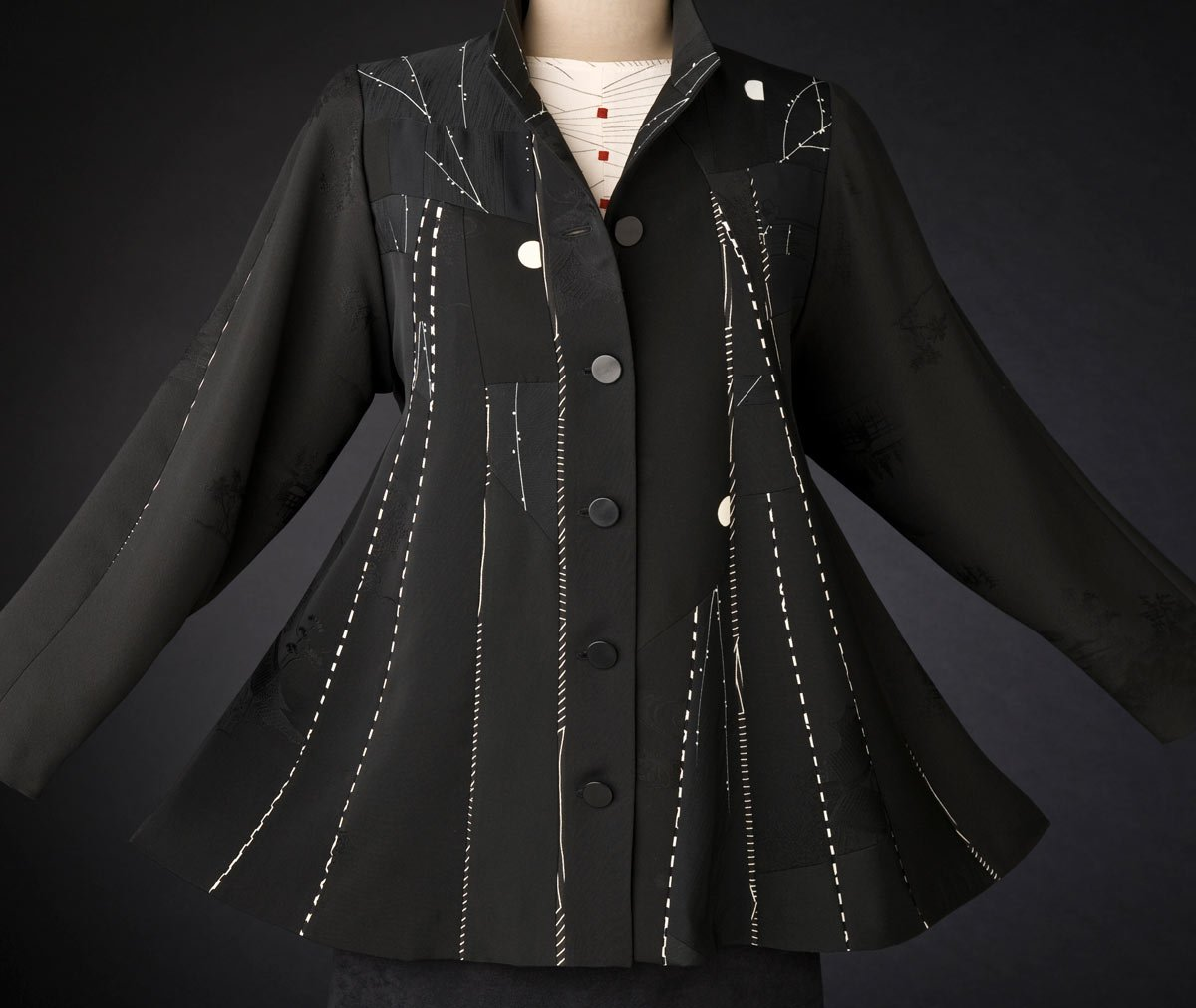 Moon Swing — Pieced jacket from vintage kimono silk. | Ann Williamson