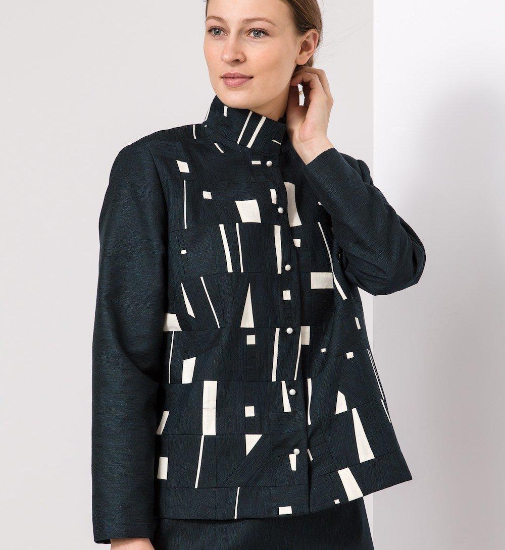 Tiny Bits K Jacket, Pieced Vintage Kimono Silks | Ann Williamson