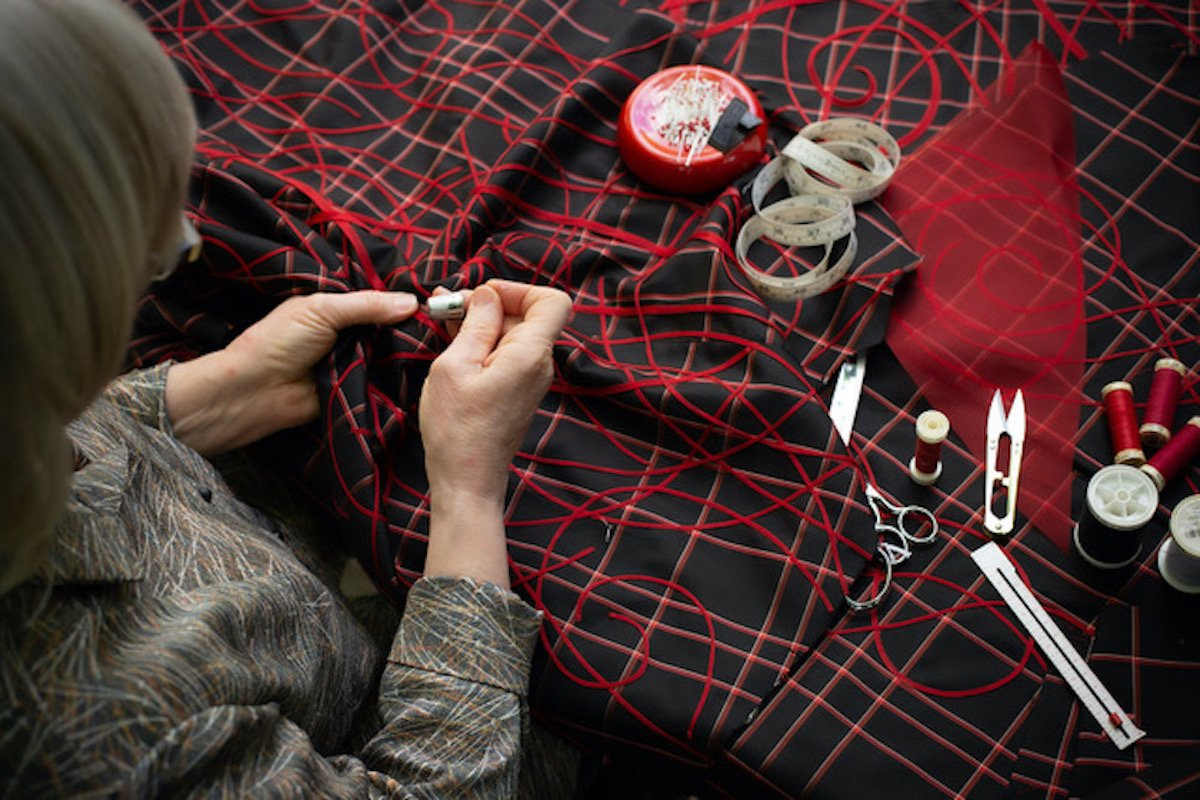 Ann hand sewing